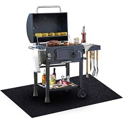Under The Grill Mat, (36 x 48 inches) ,BBQ Grilling Gear Gas Electric Grill – Use This Absorben ...