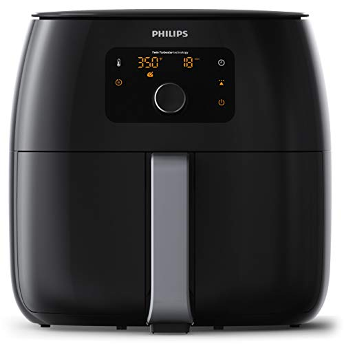 Philips HD9650/96 Digital Twin TurboStar Airfryer XXL, with Fat Removal Technology Black