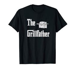 Mens The Grillfather with Propane Grill BBQ T-shirt