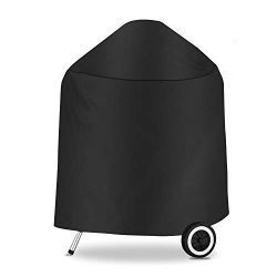 Hongso 7149 BBQ Grill Cover for Weber Charcoal Grills 22.5 Inch, Heavy Duty Waterproof Gas Grill ...