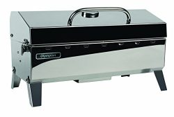 Camco Olympian 4500 Stainless Steel Portable Gas Grill – Connects To 1 lb Disposable Propa ...