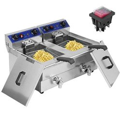 Belovedkai Electric Deep Fryer, 13L/26L Stainless Steel Commercial Electric Deep Fat Fryer Tempe ...