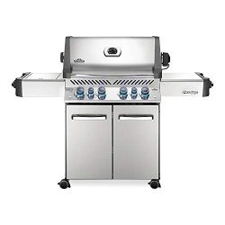 Napoleon P500RSIBNSS-3 Prestige 500 Natural Gas Grill with Infrared Side and Rear Burners, Stain ...