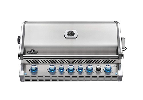Napoleon BIPRO665RBNSS-3 Burner, Stainless Steel Built-in Prestige PRO 665 Natural Gas Grill Hea ...