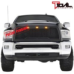 Raptor Style Upper Replacement Grille w/LED Amber Lighting for 10-12 Dodge Ram 2500/3500 – ...