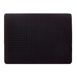 Resilia – Grill and Garage Protective Mat – Decorative Embossed Diamond Plate Patter ...