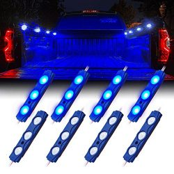 Xprite Led Rock Light for Bed Truck, 24 LEDs Cargo Truck Pickup Bed, Under Car, Foot Wells, Rail ...