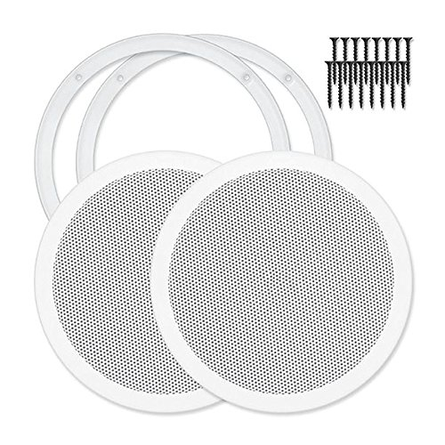 Reliable Hardware Company RH-4002-8-2-A White Universal Surface Mount 8-3/8″ Speaker Cover ...