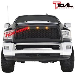 Raptor Style Upper Replacement Grille w/LED Amber Lighting for 13-17 Dodge Ram 2500/3500 – ...