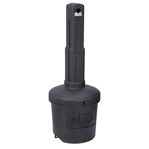 Global Industrial Black Outdoor Ashtray, 5 Gallon