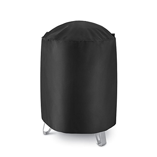 iDepot Outdoor Round Smoker Cover, Heavy Duty Waterproof Dome Vertical Smoker Cover, Fade and UV ...