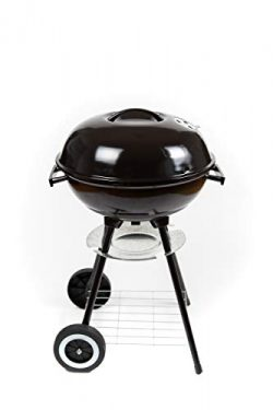 Compact 17″ Charcoal BBQ Grill for Cooking Outdoors, Perfect for Steak, Chicken, Fish. Enj ...