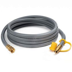 GASPRO 10 Feet 3/8 Natural Gas Hose, Propane Gas Grill Quick Connect/Disconnect Hose Assembly fo ...