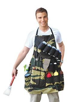 BigMouth Inc The Grill Sergeant BBQ Apron, Cotton Camouflage Gag Gift for Cookouts, Adjustable S ...