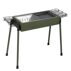 Uten Barbecue Charcoal Grill Stainless Steel, Portable BBQ Grill for Outdoor Cooking Camping Pic ...