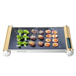 Elechomes Electric Grill Griddle with LED Touch Control – 900W Microcrystal Glass Grill/Gr ...