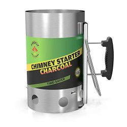 Charcoal Chimney Starter, Charcoal Cooker, Stainless Steel Charcoal Chimney Starter By Firefly G ...
