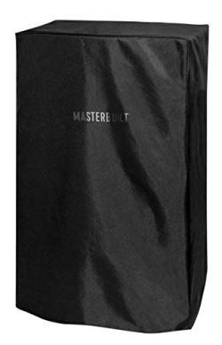 Masterbuilt MB20080110 Electric Smoker Cover, 11.80in. x 11.60in. x 1.20in, Black
