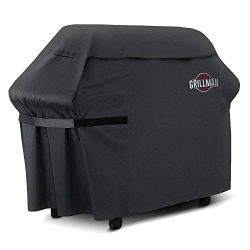 Grillman Premium BBQ Grill Cover, Heavy-Duty Gas Grill Cover for Weber, Brinkmann, Char Broil et ...