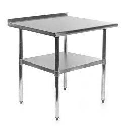 GRIDMANN NSF Stainless Steel Commercial Kitchen Prep & Work Table w/Backsplash – 30 in ...