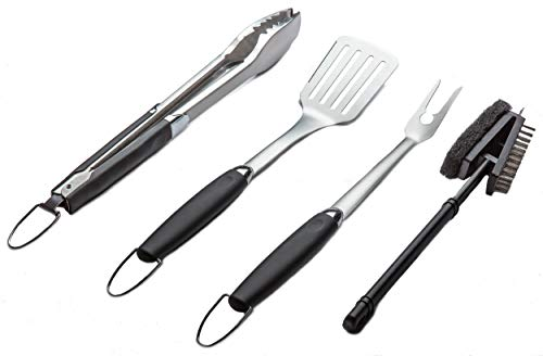 Simplistex – Heavy Duty – 4 Piece Stainless Steel Barbecue Grill Tool Set for Indoor ...