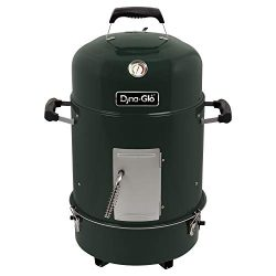Dyna-Glo DGVS390BC-D Compact Bullet Charcoal Smoker, High Gloss Forest Green