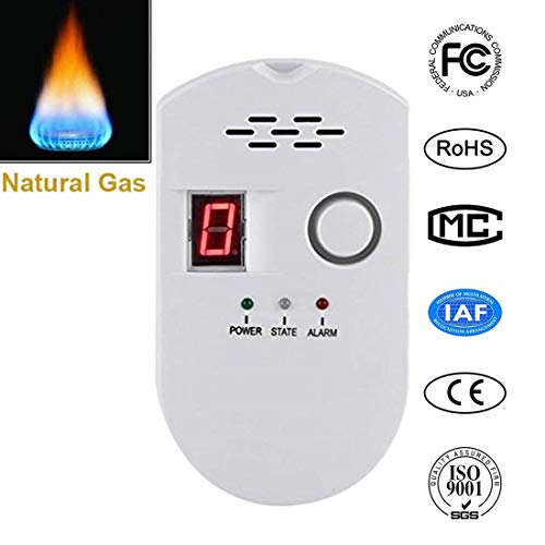 Natural Digital Gas Detector, Home Gas Alarm , Gas Leak Detector, High Sensitivity LNG Coal Natu ...
