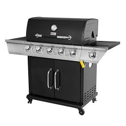 Royal Gourmet Propane Gas Grill 5-Burner with Side Burner GG5301S, Black
