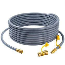 "GASPRO 24 feet Natural Gas Hose with 3/8"" Male Flare Quick Connect/Disconnect for BBQ Gas Grill- ..."