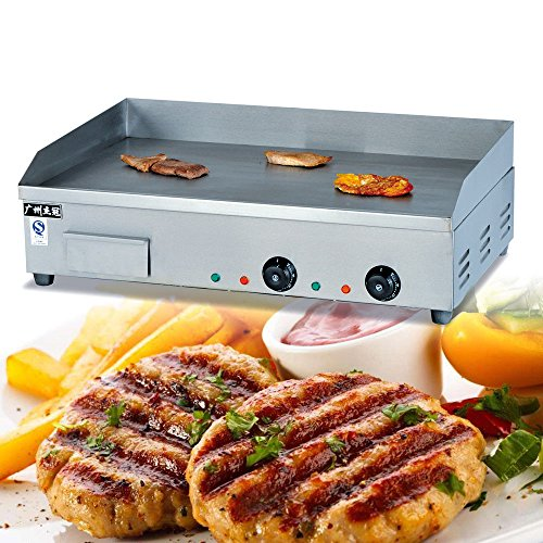 Electric Griddle Grill Machine, 73cm 4400W Commercial Electric Griddle Countertop Kitchen Hotpla ...