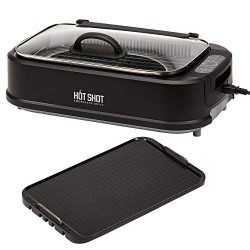 Hot Shot Indoor Electric Smokeless Grill – Indoor / Outdoor Use | Electric, Compact & Portab ...