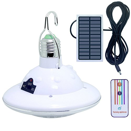 LISOPO 22LED Solar Remote Control Lights,Portable Outdoor Solar Lamp Hooking Garden Camp Emergen ...