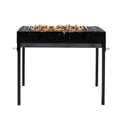 soges Charcoal Grill Portable Barbecue Grill Detachable BBQ Cooker Stainless Steel Camping Grill ...