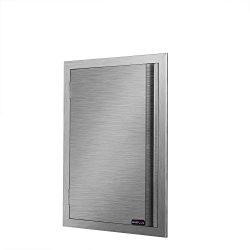 DaTOOL Stainless Steel BBQ Door,304 Brushed Stainless Steel BBQ Door 17WX24H, BBQ Island Door fo ...