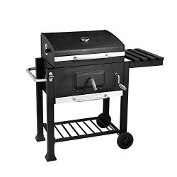 soges 24.8″ Charcoal Grill Barbecue Grill with 2 Grids and Lifting Warming Rack BBQ Cooker ...