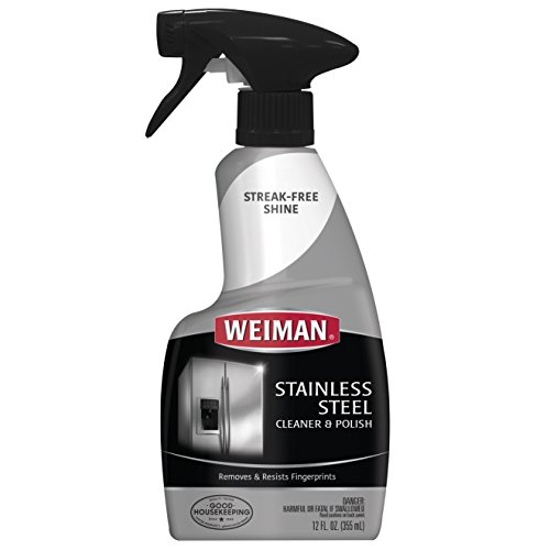Weiman Stainless Steel Cleaner & Polish Trigger Spray – Protects Against Fingerprints  ...