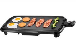 Kealive Griddle, Family-Sized Electric Grill Griddle 1500W with Drip Tray, Non-stick, 10″x ...