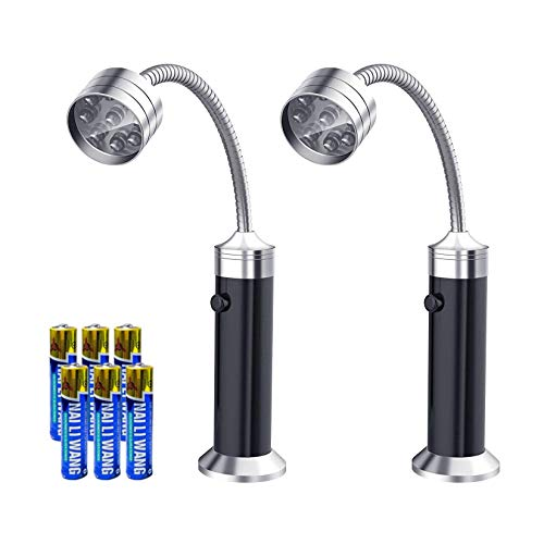 AKNMSOY LED Grill Light with Super Bright LEDs,Magnetic Base,360 Degree Flexible Gooseneck,Weath ...