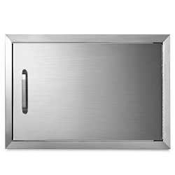 Mophorn BBQ Access Door 17 x 24 Inch Horizontal Access Door Stainless Steel Single Door Flush Mo ...