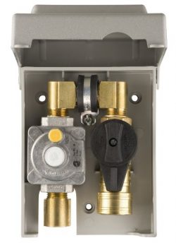 Burnaby Manufacturing G0101-2#-5G-50 Gas Plug 2-Gas Outlet Box with 1/2-Inch Inlet and 3/8-Inch  ...