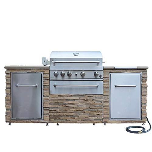 The Ultimate BBQ Grill – Stack Stone Grill Island 72,000 Total BTUs – Propane