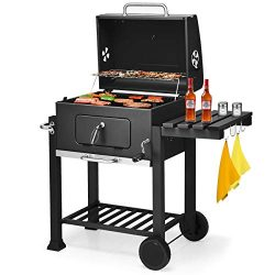Giantex BBQ Charcoal Grill Portable Barbecue Grill for Lawn Picnic Backyard Balcony Outdoor Cook ...
