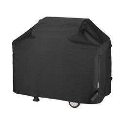 Unicook Heavy Duty Waterproof Barbecue Gas Grill Cover, 55-inch BBQ Cover, Special Fade and UV R ...