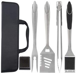 grilljoy 6pc Heavy Duty BBQ Grilling Tools Set – Extra Thick Stainless Steel Grilling Acce ...