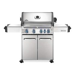Napoleon P500RBNSS-3 Steel Prestige 500 Natural Gas Grill with Infrared Rear Burner, Stainless S
