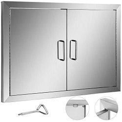 Mophorn Double Wall BBQ Access Door Cutout 28″ Width x 19″ Height BBQ Island Door w/ ...