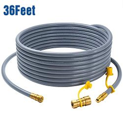 "GASPRO 36 feet Natural Gas Hose Extension with 3/8"" Male Flare Quick Connect/Disconnect for BBQ  ..."