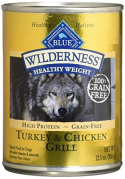 Blue Buffalo Wilderness High Protein Grain Free, Natural Adult Healthy Weight Dog Wet Food, Turk ...