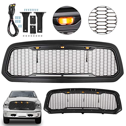 Mophorn Front Grill For 2013-18 Dodge Ram 1500 Mesh Grille Raptor Style Upper Replacement Grille ...