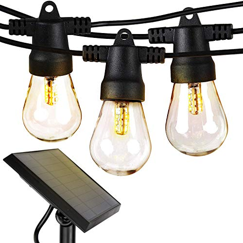 Brightech Ambience Pro – Waterproof LED Outdoor Solar String Lights – 1W Vintage Edi ...